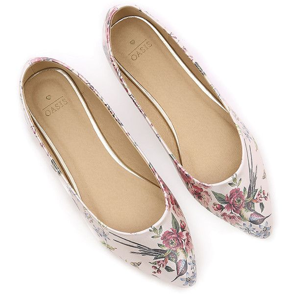 ROYAL WORCESTER BALLET FLAT (410 ZAR) ❤ liked on Polyvore featuring shoes, flats, ballet shoes, floral print flats, ballerina pumps, ballet flats and ballerina shoes