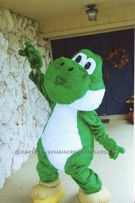Epic Deluxe Homemade Yoshi Costume... This website is the Pinterest of costumes