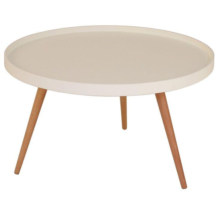 Köp - 1495 kr! Nordic soffbord Runt 90 cm - Vit. Nordic är ett soffbord med retro utförande. Vit toppskiva med
