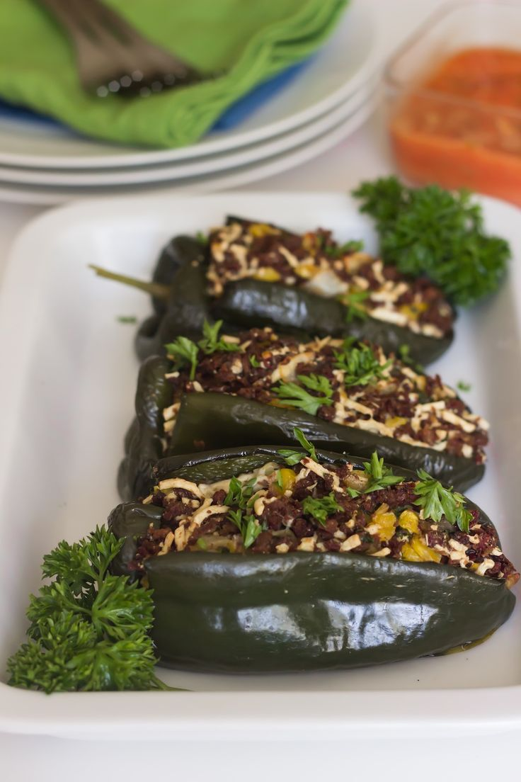 Stuffed Poblano Peppers on http://www.homemadelevity.com/stuffed-poblano-peppers/