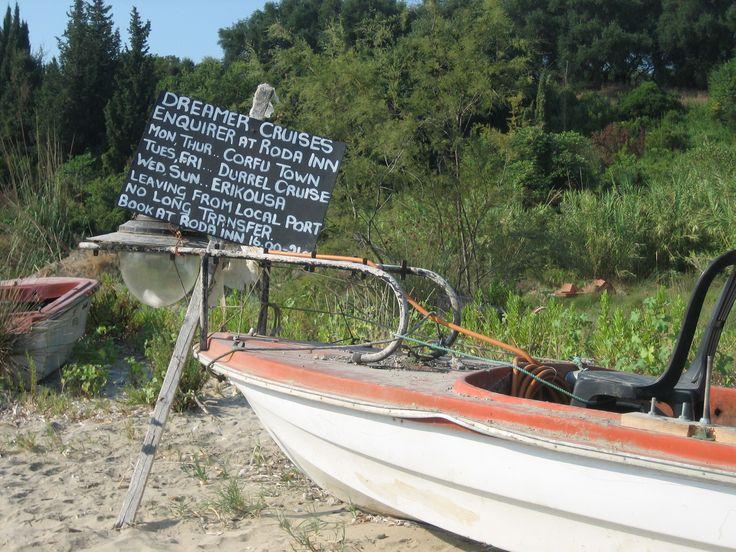 Roda Corfu, night time ramblings sat in this boat!!!