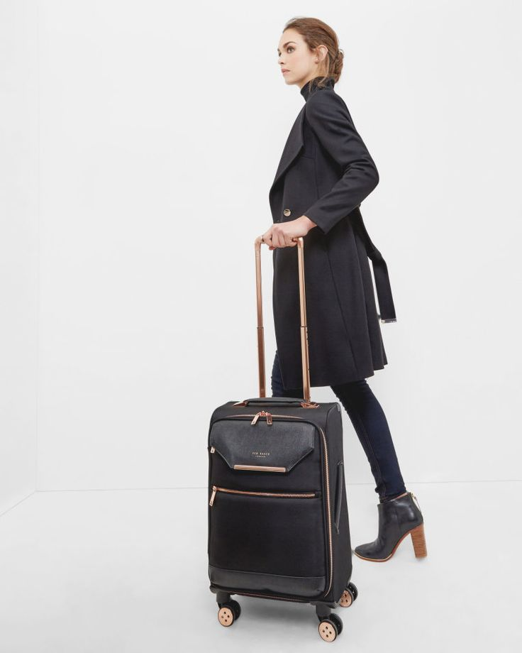 Metallic trim small suitcase - Black | Bags | Ted Baker
