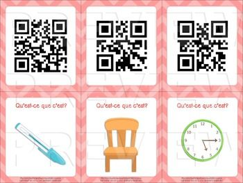 French Classroom Vocabulary - Word Wall & Scavenger Hunt $