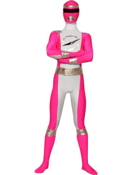Pink Power Rangers Zentai Suit Halloween Super Hero Costume