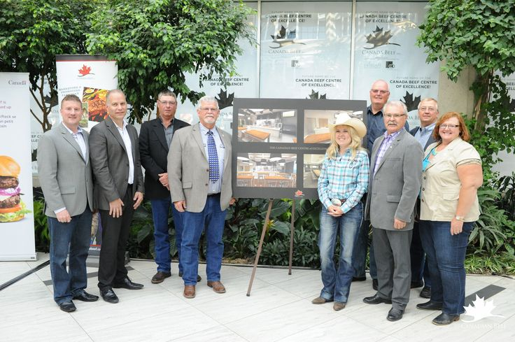 Press event announcing the 3.8 million dollars in funding for the Canadian Beef Centre of Excellence. #CDNbeefCentre