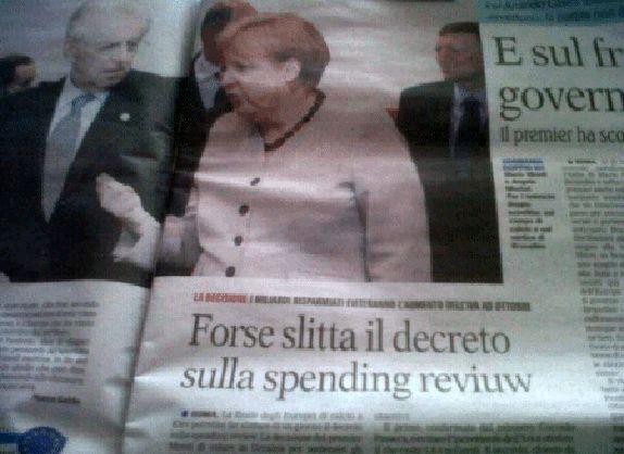 Spending review… Forse in qualche redazione hanno già iniziato a rivedere i costi… dei corsi di inglese!!!! (1 luglio 2012)