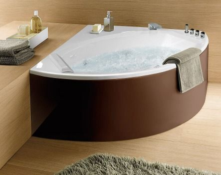 255 best bagno images on pinterest | bathroom ideas, room and home - Bagni Moderni Con Vasca Angolare