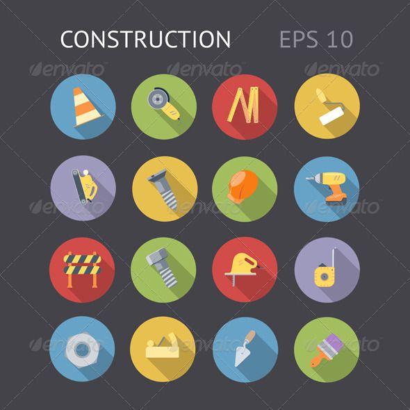CS Tags: app #badge #bolt #brush #buttons #construction #design #drill #eps10 #flat #flatdesign #graphics #helmet #icons #industrial #interface #label #longshadows #nut #paint #roadcone #roller #ruler #sign #symbol #tool #ui #vector #web