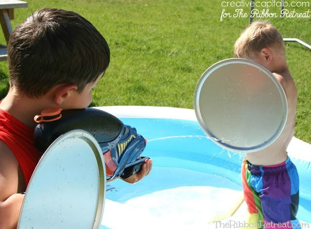 Simple Water Fight Shields - The Ribbon Retreat Blog