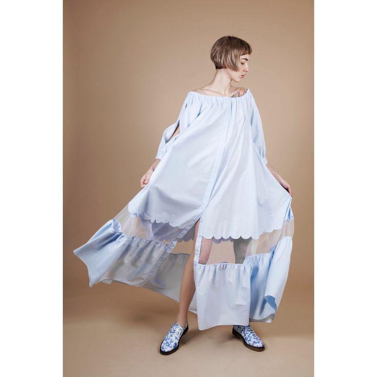 Victoria Andreyanova. #pastel #blue #fashion #VogueRussia #readytowear #rtw #springsummer2017 #VictoriaAndreyanova #VogueCollections