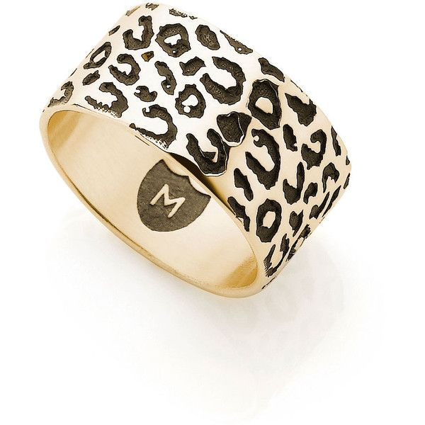 Superette Co-labs Leopard Cat Ring - Gold ($785) ❤ liked on Polyvore