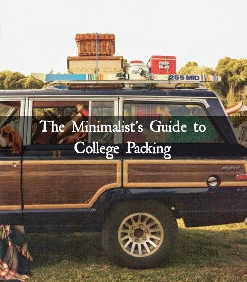 Alyssa J Freitas: The Minimalist's Guide to College Packing