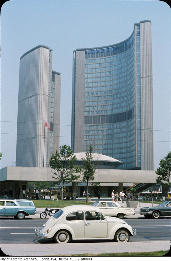 "Love this photo of Toronto's City Hall. From the City of Toronto Archives, poster to ""Toronto of the 1970s"" on BlogTO.com"