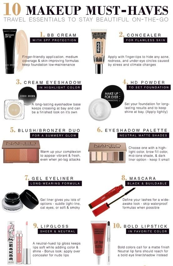 10 Makeup must-haves #makeup