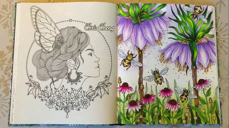 Dagdrömmar Coloring Book | The Secret Life of Bees | Coloring With Colored Pencils - YouTube