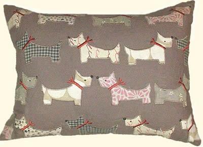 Scottie Dogs Pillow