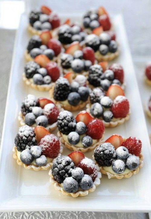 Tartlets filled with fruit and sprinkled with sugar www.MadamPaloozaEmporium.com www.facebook.com/MadamPalooza