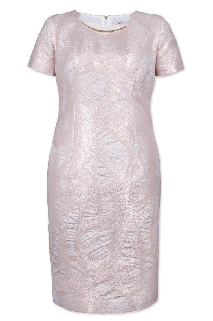 Sukienka Lena2 - to bliźniacza siostra bestsellerowej sukienki Lena, tym razem w pudrowym różu.