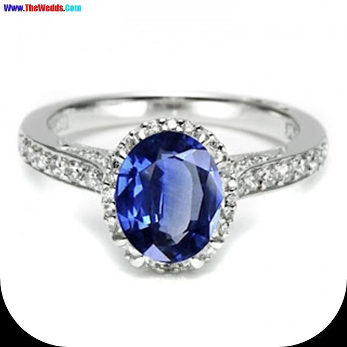 wendy williams wedding ring blue oval diamond - Wendy Williams Wedding Ring