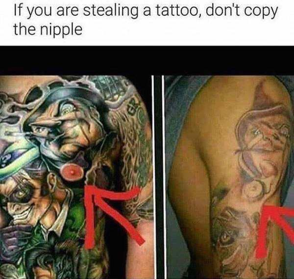 Lmao --Got a bad tattoo? PCI Wellness does Laser tattoo removal - https://pciwellness.com/services/laser-treatments/tattoo-removal/