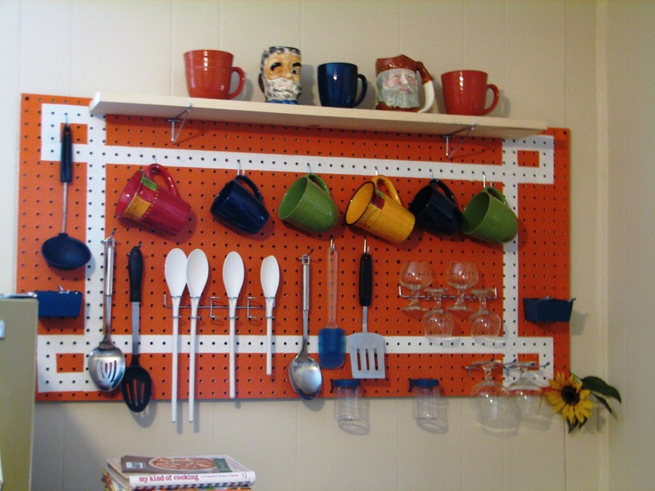 23 best images about pegboard on pinterest acrylics pot for Kitchen pegboard ideas