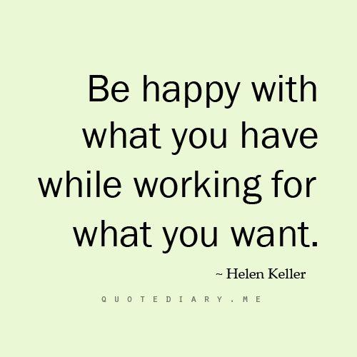 Helen Keller quote on happiness.