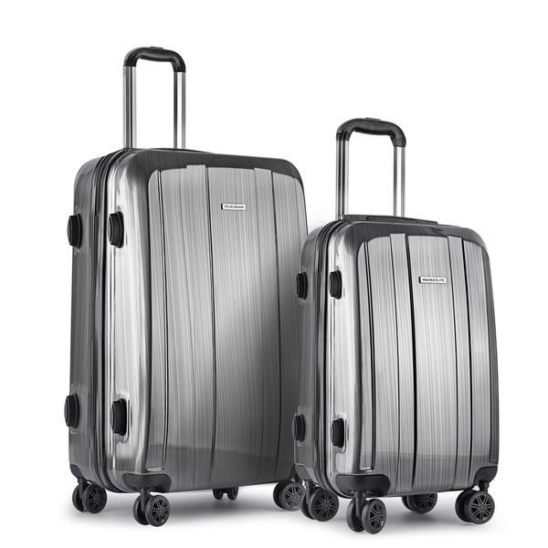 Set of 2 Premium Hard Shell Travel Luggage with TSA Lock - Grey – Click Online Sales