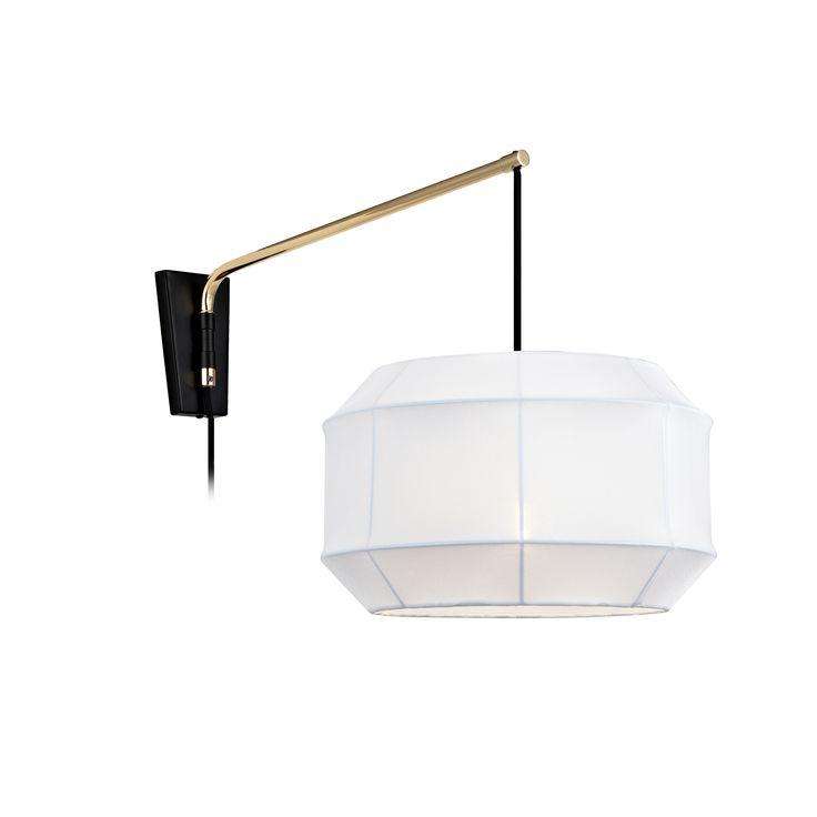 Corse vägglampa från Markslöjd. Skärm i textil. Detaljer i metall. 2m textilklädd sladd med strömbrytare. Stor lamphållare (E27). Max 60W glödlampa eller motsvarande styrka i halogen, lågenergi eller LED. #markslöjd #light #lampa #livingroom #walllight #vägglampa #design