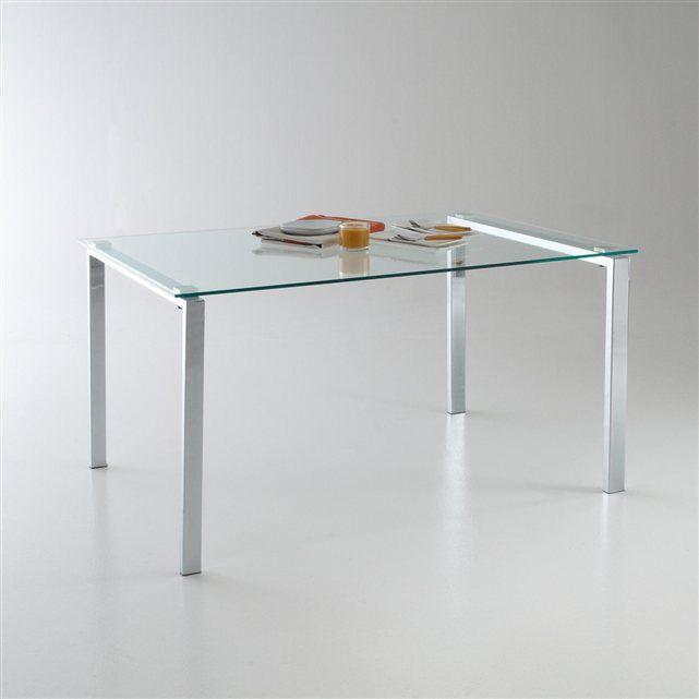 Table design métal et verre, Joan La Redoute Interieurs