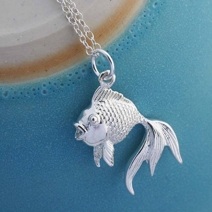 sterling silver fish necklace by martha jackson sterling silver | notonthehighstreet.com
