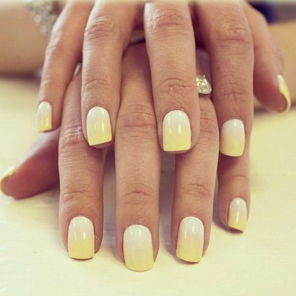 Summer Nails Manicures Manicures Yellow Yellow Nails Design Bio Sculpture Gel Nails Trendy Nails