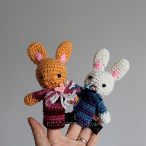 Pupazzi da dita conigli (Amigurumi)