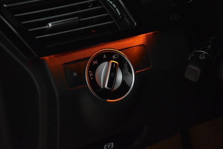 More interior lights Mercedes-Benz E200. Beautiful!