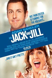 """""""Jack and Jill"""" (2011) I thought this movie was going to be hilarious based on the previews, but alas, one of those movies that all the good parts are in the trailer. A bit of a disappointment, Adam Sandler, I usually like your movies. A few laughs, but overall just a miss. #Fresh_Reviews"""