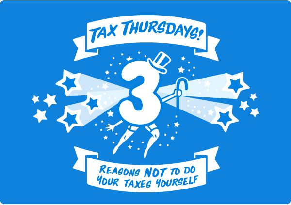 3 reasons NOT to do your taxes yourself. #taxthursdays #smallbiz