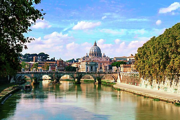 George Westermak Photograph - Historical Rome On A Sunny Summer Day by George…