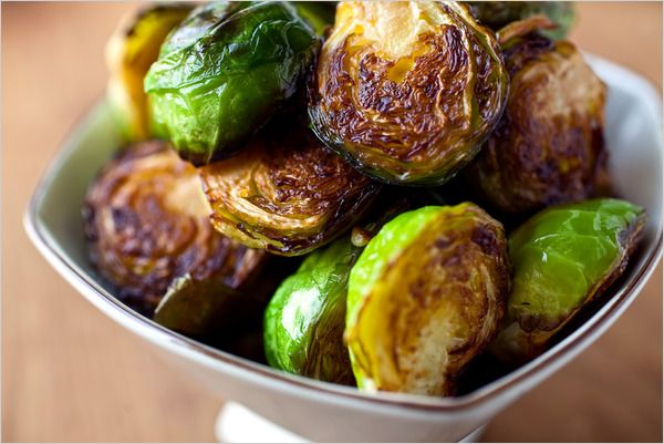 Seared Brussels Sprouts. Recipe lacks bacon, must be added. Use bacon drippings to sear sprouts, not oil.