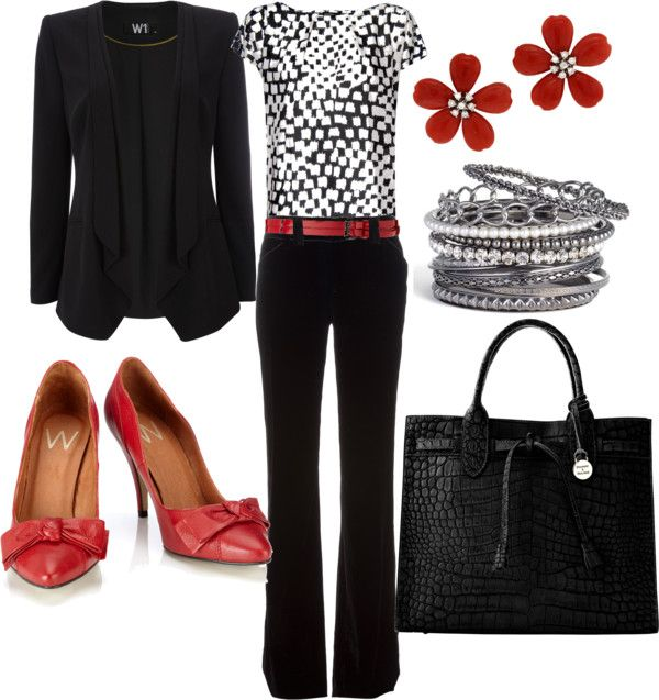 """""""black and red professional"""" by lulums on Polyvore"""