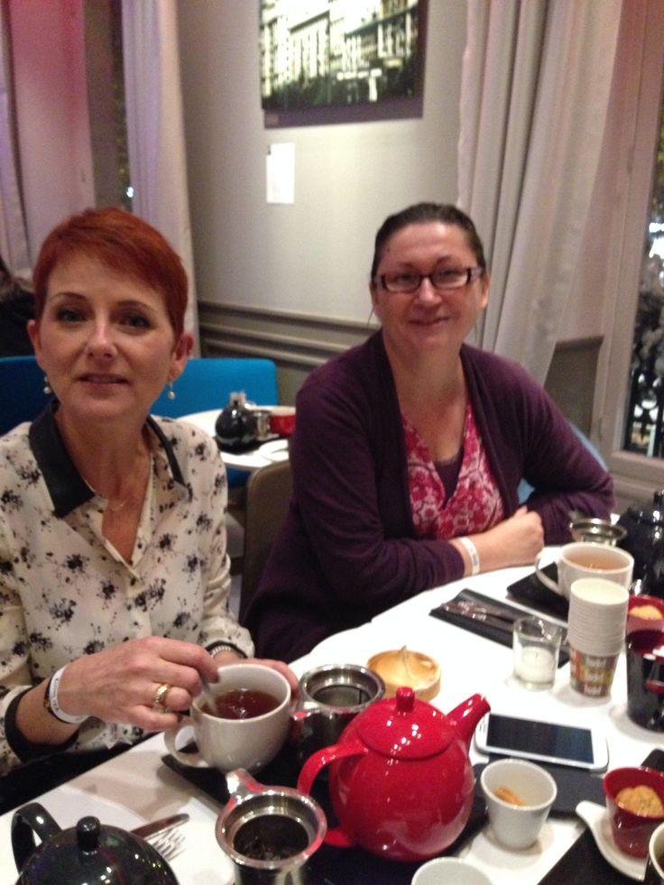 Et mes 2ières invitées Martine et Valérie ;-) au café Kousmichoff