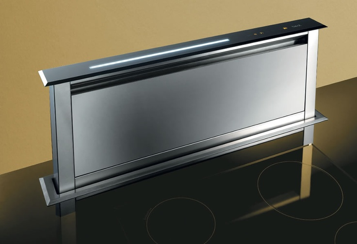 Downdraft extractor hood for kitchen island kitchens for What is a downdraft range