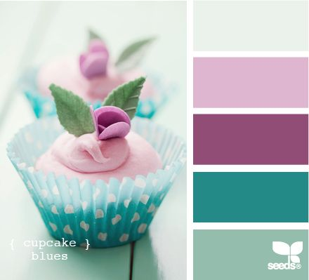 Palette: Cupcake Blues (teal and plum)