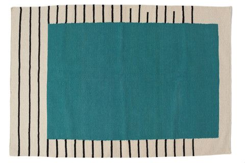 Suzanne Flat-Weave Rug, Teal