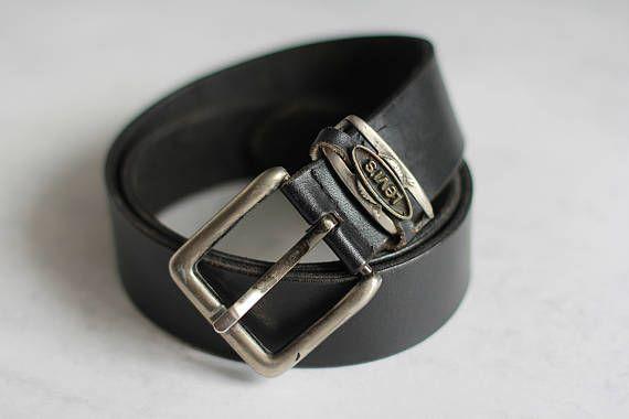 Levi's Leather Vintage Belt Black Genuine Jeans