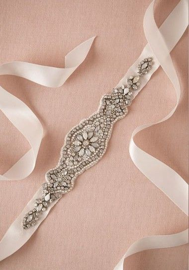 This crystal BHLDN sash is the perfect way to adorn a more simple wedding dress