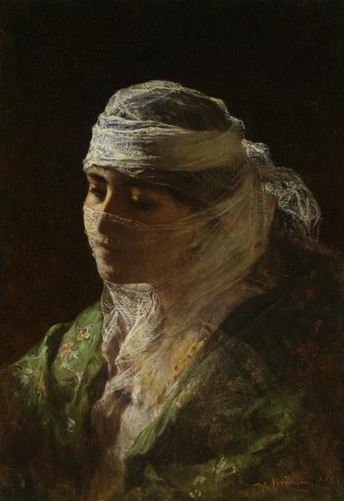 Frederick Arthur Bridgman (1847-1928) - A Veiled Beauty of Constantinople, 1880