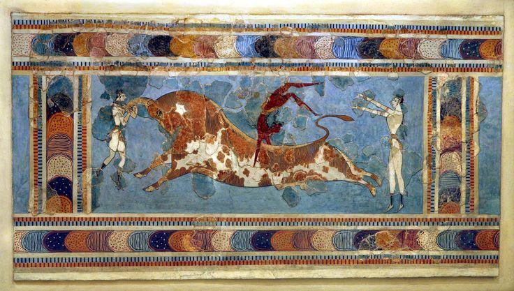 クレタ島 クノッソス宮殿 ≪牛跳び≫ B.C.1500頃