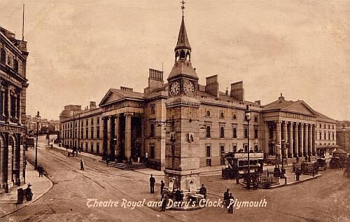 The Theatre Royal, Plymouth from a postcard, undated.