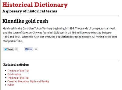 A Free Dictionary of Historical Terms, People, and Events