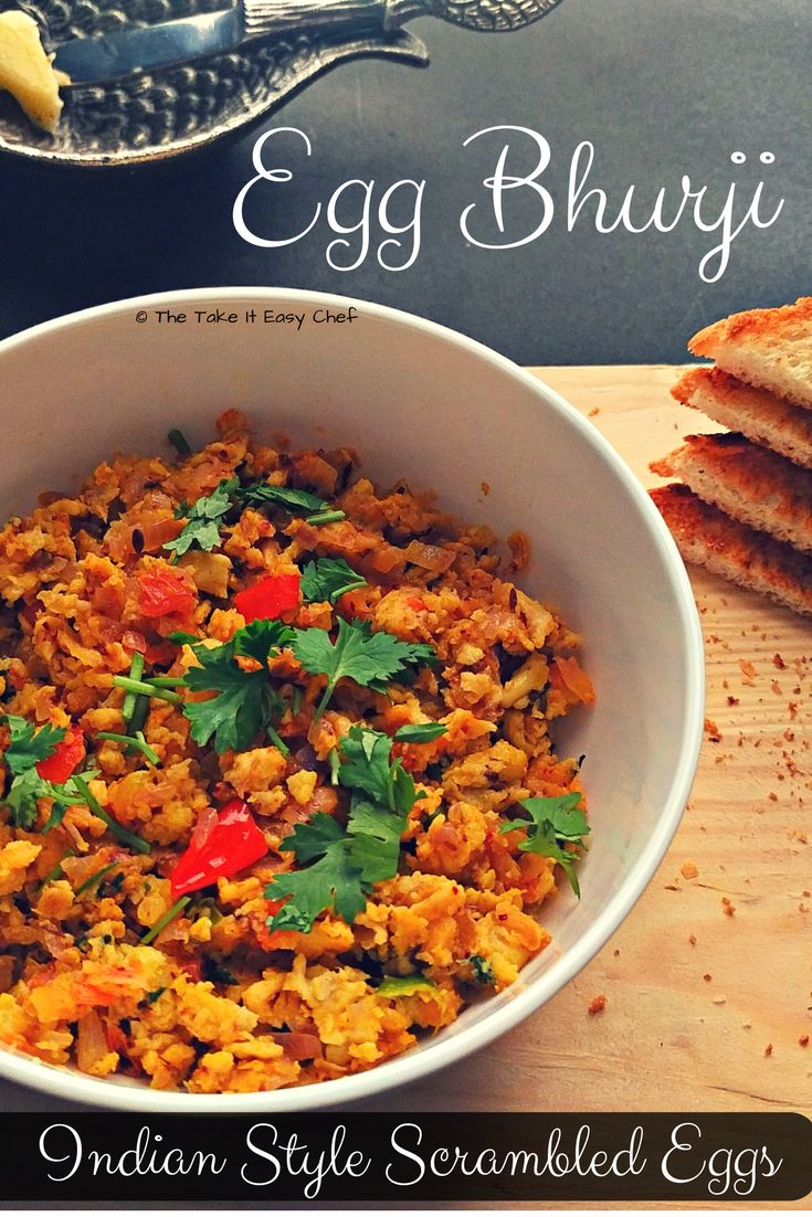 Egg bhurji could be called an Indian version of the scrambled eggs. It's just that we love our spices, and love to show them off!