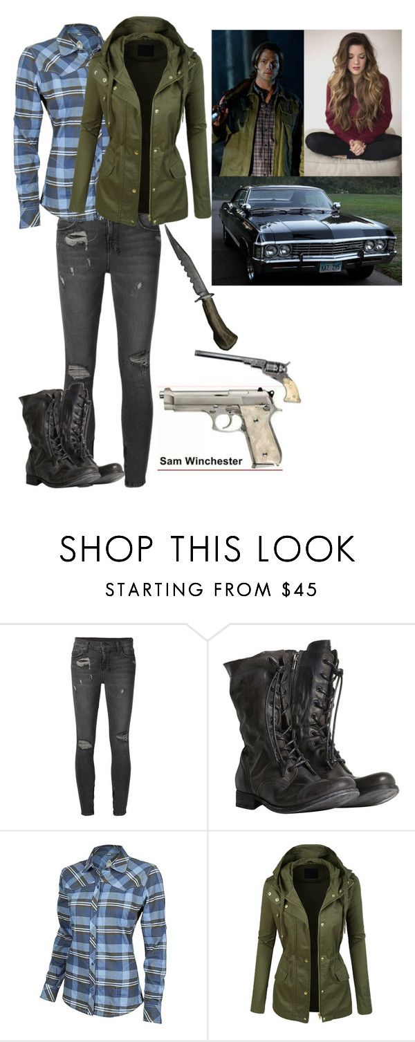 """Fem! Sam Winchester"" by mahiggins ❤ liked on Polyvore featuring Ksubi, AllSaints, Club Ride and LE3NO"